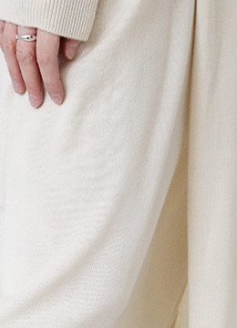 [2/18-2/19 5% discount] COVER KNIT DRESS_CREAM (107000→102000)