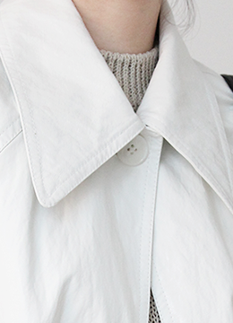 [2/19-2/20 5% discount] LEATHER TRENCH COAT_WHITE (134000→127000)